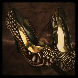 Black and Gold Heels by POSH